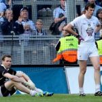 Kildare's goalkeeper goalkeeper Shane Connolly and Paddy Brophy dejected after losing the Leinster SFC semi-final against Dublin by 16 points