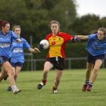 St Laurence's Brianne Leahy on the attack against Eadestown