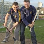 Evan Dempsey and his father Joe ahead of this year's Kildare SHC Final when they will both line together for Éire Óg