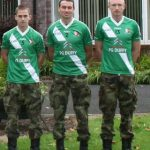 Pte Conor Tiernan, Comdt Padraig Brennan and Pte Ray Cahill from Sarsfields who are all Curragh-based members of the Irish Defence Forces