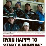 Kildare manager Jason Ryan watches from the stands with his selectors Damien Hendy, Ronan Quinn and Trevor O'Sullivan