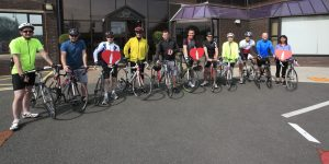 Staff from the Coca Col.a plant in Athy in training for their forthcoming charity cycle