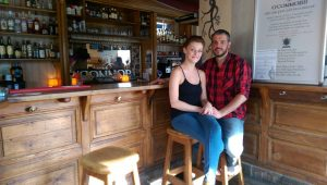 David O'Connor from Naas and his partner Alex at his pub in Vienna from where he is co-ordinating a refugee aid drive