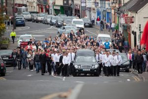 The funeral of Jason Doogue, Athy, Kildare. (No Credit please)