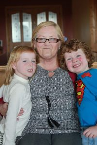 Nathan Ó Raghallaigh with his friend Katlyn Higginbotham and his granny Ursula Doran Ó Rathallaigh Photo courtesy of The Irish Sun