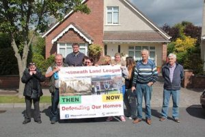 Protestors outside the house at Kerdif Park in Naas on Tuesday last