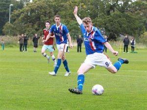 Joe Breen in possession for Carlisle Utd