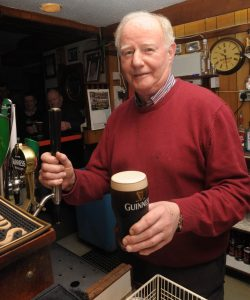 John Moore. Moores Well, Suncroft, pulls his last pint after 54 years in the business Photos. Jimmy Fullam.