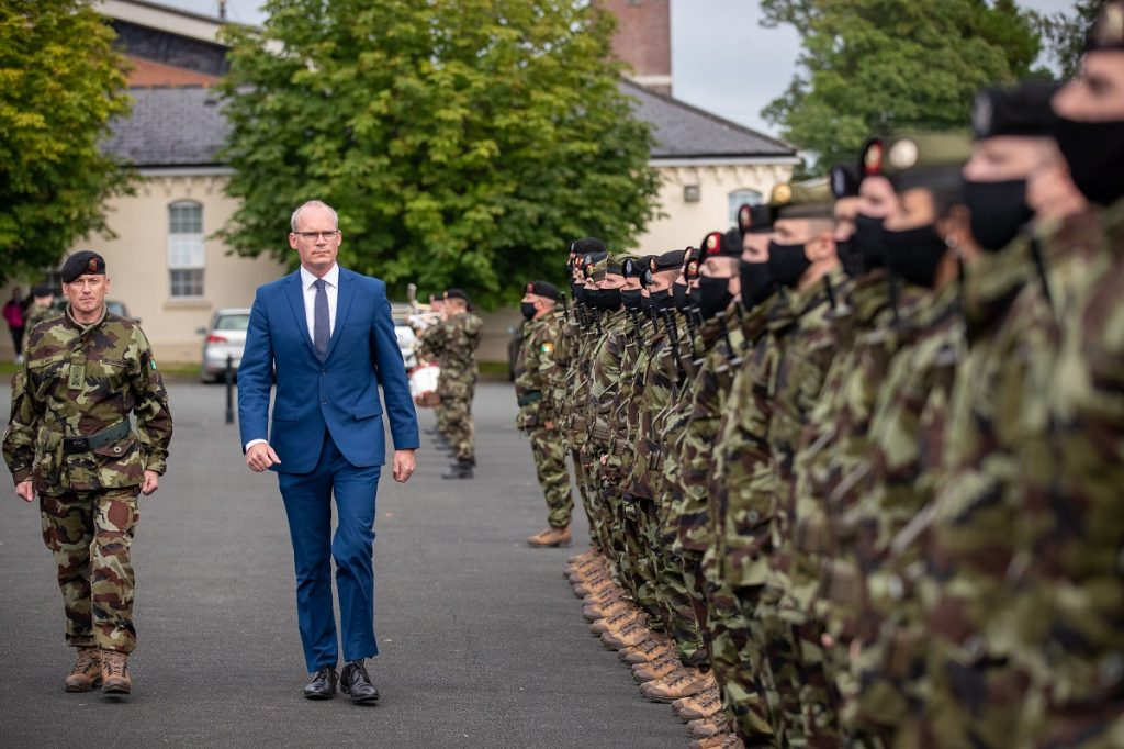 Minister for Defence visits Curragh to review troops bound for Syria